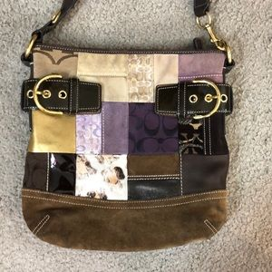 Coach Bags - 💕 Coach multicolored suede leather crossbody 💕